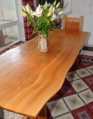 Cedar And Ash Dining Table. The Top From Four Pieces Of Deodar Cedar.