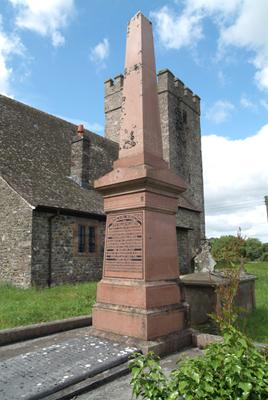 William Williams, Pantycelyn s memorial in Llan y Bryn, Llandovery